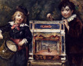 Portrait Of The Artist's Two Sons With Their Puppet Theatre - Marcellin Desboutin