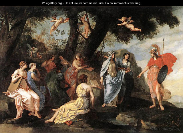Minerva and the Muses - Jacques Stella