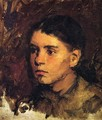 Head of a Young Girl - Frank Duveneck