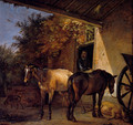 A Barnyard With Two Plough Horses - Paulus Potter
