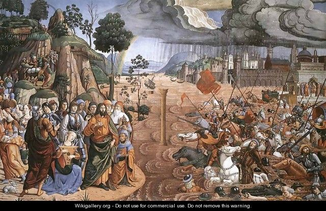 Crossing of the Red Sea - Cosimo Rosselli