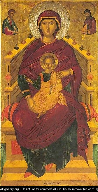 The Mother of God Enthroned - Andreas Ritzos