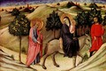 Flight to Egypt - predella panel - Pietro di Sano