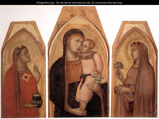 Madonna and Child with Mary Magdalene and St Dorothea - Ambrogio Lorenzetti