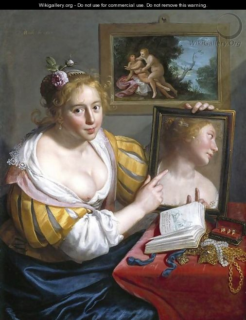 Girl with a Mirror (Allegory of Profane Love) - Paulus Moreelse