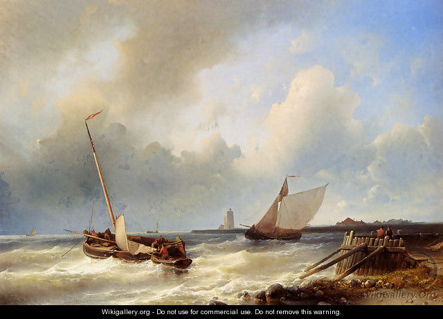 Shipping Off The Dutch Coast - Abraham Hulk Snr