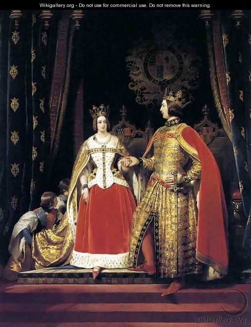 Queen Victoria and Prince Albert at the Bal Costumé of 12 May 1842 - Sir Edwin Henry Landseer