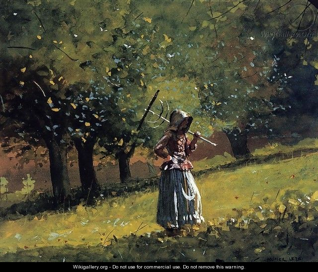 Girl with a Hay Rake - Winslow Homer