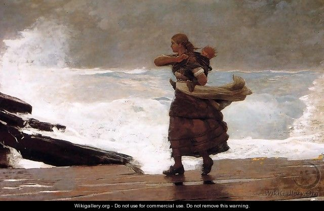 The Gale - Winslow Homer