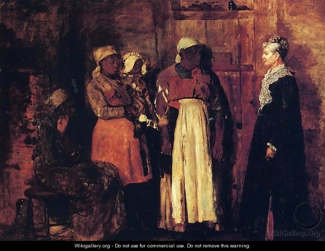 A Visit from the Old Mistress - Winslow Homer