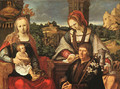 Madonna and Child with Mary Magdalene and a Donor - Lucas Van Leyden