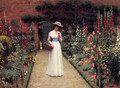 Lady in a Garden - Edmund Blair Blair Leighton
