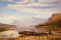 Derwentwater From Ladore: Morning, With Skiddaw In The Distance - Benjamin Williams Leader