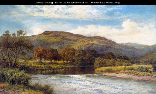 The Conway Near Bettws y Coed - Benjamin Williams Leader