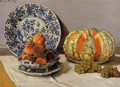 Still Life With Melon - Claude Oscar Monet