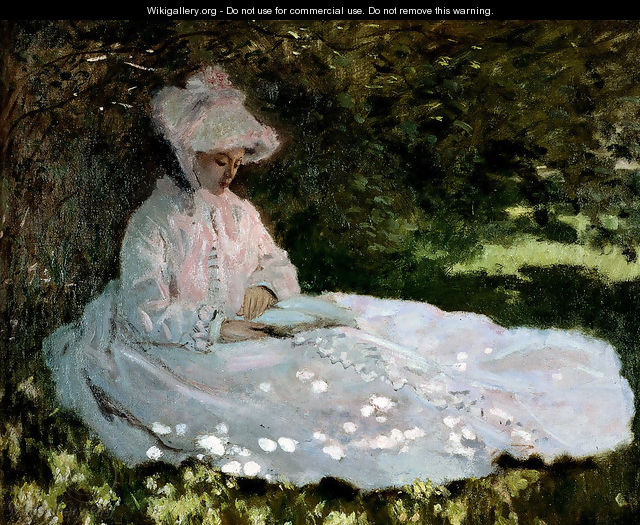 A Woman Reading - Claude Oscar Monet