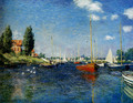 Argenteuil (Red Boats) - Claude Oscar Monet