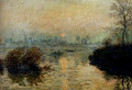 Sun Setting Over The Seine At Lavacourt, Winter Effect - Claude Oscar Monet