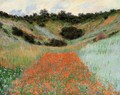 Poppy Field In A Hollow Near Giverny - Claude Oscar Monet
