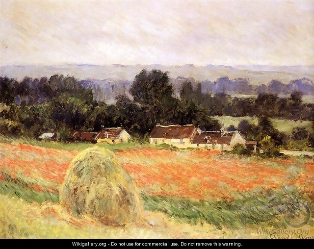 Haystack At Giverny - Claude Oscar Monet