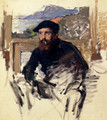 Self Portrait In His Atelier - Claude Oscar Monet