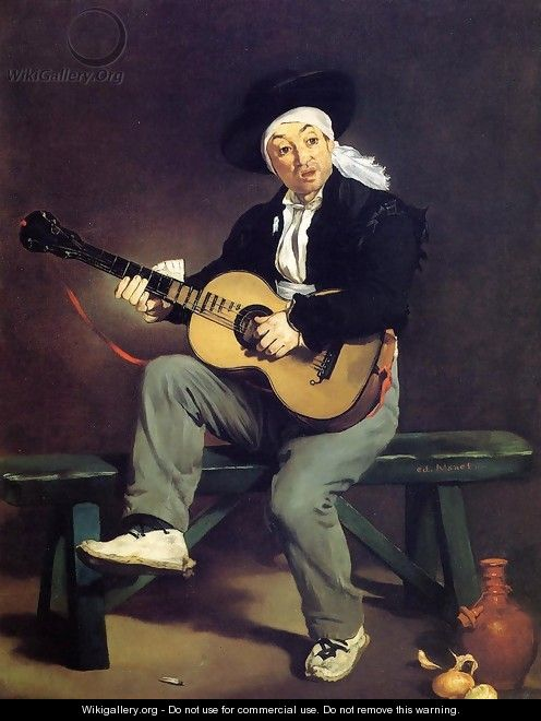 The Spanish Singer (or The Guitar Player) - Edouard Manet