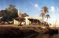 On the banks of the Nile - Prosper-Georges-Antoine Marilhat