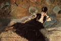 Woman with Fans (Nina de Callias) - Edouard Manet