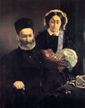 M. and Mme Auguste Manet - Edouard Manet