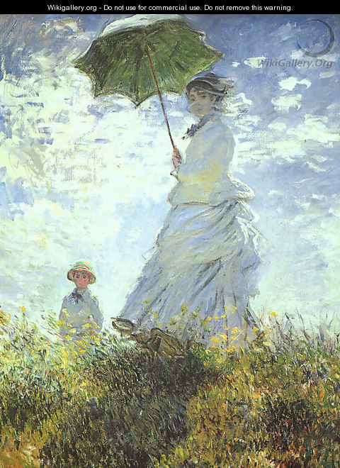 Woman with a Parasol - Claude Oscar Monet