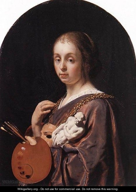 Pictura (an allegory of painting) - Frans van Mieris