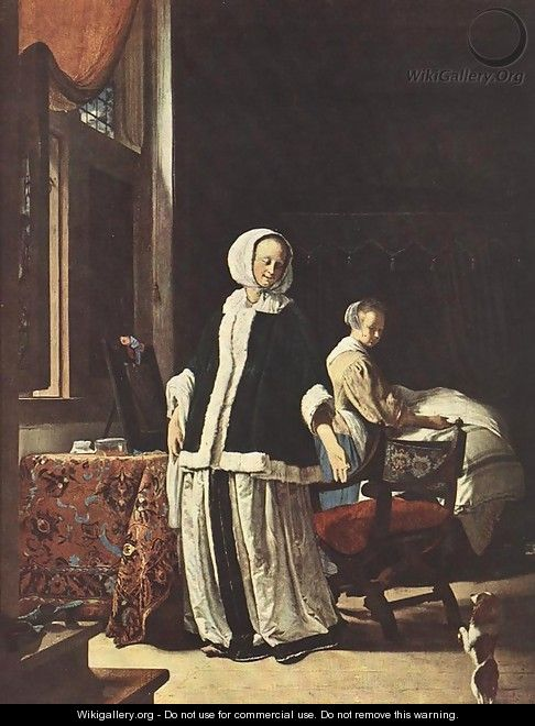 Young woman in the morning - Frans van Mieris