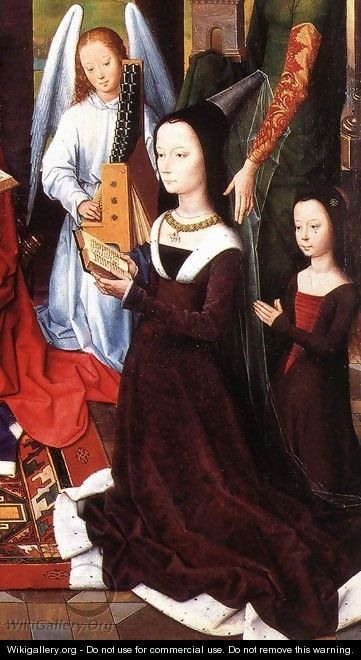 The Donne Triptych [detail: 5, central panel] - Hans Memling