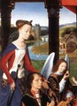 The Donne Triptych [detail: 3, central panel] - Hans Memling