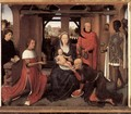 Triptych of Jan Floreins [detail: 1, central panel] - Hans Memling