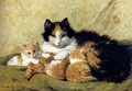 A Proud Mother - Henriette Ronner-Knip