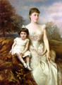 Portrait of Mrs. Drury Percy Wormald and her Son - Edward Hughes