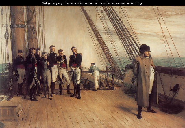 On Board HMS Bellerophon - Sir William Quiller-Orchardson