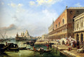 The Bacino, Venice, Looking Towards The Grand Canal, With The Dogana, The Salute, The Piazetta And The Doges Palace - Edward Pritchett