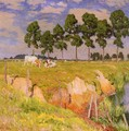 La Berge Rangee (Juillet) (The Receding Bank, July) - Emile Claus