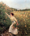 Picking Flowers - Pierre Andre Brouillet