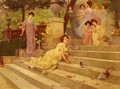 Girls on a Terrace - Albert Emile Artigue