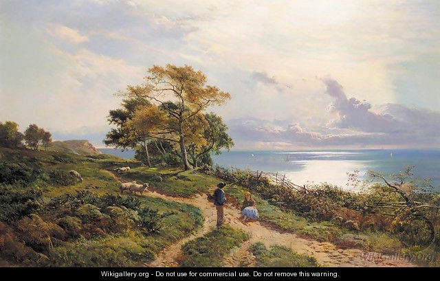 Overlooking the Bay - Sidney Richard Percy