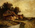 Cottages By A Stream - Leon Richet