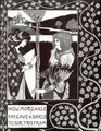 How Morgan Le Fay Gave a Shield to Sir Tristram - Aubrey Vincent Beardsley
