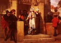 Faust and Mephistopheles Waiting for Gretchen at the Cathedral Door - Wilhelm Koller