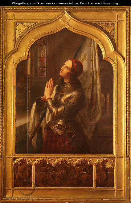 Joan of Arc In Prayer - Hermann Anton Stilke