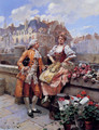 The Flower Seller - Henri Victor Lesur