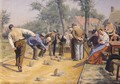 A Game of Bowls in the Village Square - Remy Cogghe