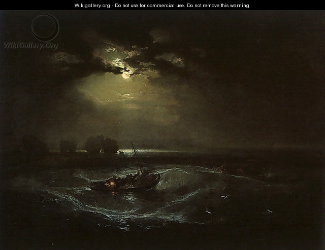 Fishermen at Sea (or The Cholmeley Sea Piece) - Joseph Mallord William Turner